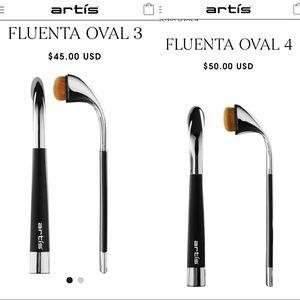 NIB Artis Fluenta Makeup Brushes Oval 3, Oval 4